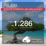 Promoção de passagens para o <b>CARIBE</b>! Viaje para <b>ARUBA</b>, pagando a partir de R$ 1.286, ida e volta! Datas de <b>MARÇO a OUTUBRO/2015</b>, inclusive nas <b>Férias de Julho</b>!