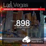 Promoção de Passagens para Las Vegas! A partir de R$ 898, ida e volta!