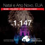 Quer passar o Natal / Ano Novo nos <b>ESTADOS UNIDOS</b>? Aproveite a promoção de passagens para Miami, Orlando, Nova York, Las Vegas ou San Francisco, com valores a partir de R$ 1.147, ida e volta!