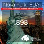 IMPERDÍVEL!!! Preços ainda mais baixos de passagens para <b>NOVA YORK</b>! A partir de R$ 898, ida e volta, com datas até Dezembro/2015!