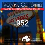 Promoção de passagens para <b>LAS VEGAS</b> e os melhores destinos da <b>CALIFÓRNIA</b>: Los Angeles, San Diego, San Francisco, San Jose, Palm Springs e mais! A partir de R$ 952, ida e volta!