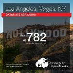 Passagens para <b>NOVA YORK</b>, <b>LOS ANGELES</b> ou <b>LAS VEGAS</b>! A partir de R$ 782, ida e volta!