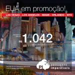 Seleção atualizada de passagens para os <b>ESTADOS UNIDOS</b>: Las Vegas, Los Angeles, Miami, Orlando ou Nova York! A partir de R$ 1.042, ida e volta; a partir de R$ 1.474, ida e volta, COM TAXAS INCLUÍDAS!