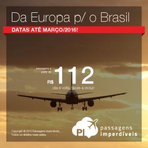 da europa p o brasil 112 reais