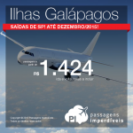 Passagens baratas para <b>GALÁPAGOS</b> saindo de São Paulo! A partir de R$ 1.424, ida e volta; a partir de R$ 1.767, ida e volta, COM TAXAS INCLUÍDAS, em até 6x sem juros!