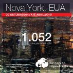 Quer viajar para <b>NOVA YORK</b>? Aproveite as passagens até Abril/2016, a partir de R$ 1.052, ida e volta; a partir de R$ 1.567, ida e volta, COM TAXAS INCLUÍDAS!