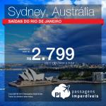 Promoção de Passagens para Sydney, Australia! A partir de R$ 2.799, ida e volta; a partir de R$ 3.656, ida e volta, COM TAXAS INCLUÍDAS!