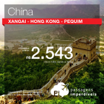 Promoção de Passagens para <b>CHINA</b>: Hong Kong; Pequim; Xangai! A partir de R$ 2.543, ida e volta; a partir de R$ 3.036, ida e volta, COM TAXAS INCLUÍDAS!