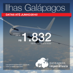 Passagens para <b>GALÁPAGOS</b>: a partir de R$ 1.832, ida e volta; a partir de R$ 2.606, ida e volta, COM TAXAS INCLUÍDAS!