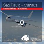 Passagens da Gol entre <b>São Paulo e Manaus</b>! A partir de R$ 0, ida e volta; pague apenas a taxa de embarque!