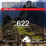 Promoção de Passagens para <b>Peru: Cusco, Lima</b>! A partir de R$ 621, ida e volta; a partir de R$ 936, ida e volta, COM TAXAS INCLUÍDAS!