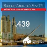 Promoção de Passagens para <b>BUENOS AIRES</b>! A partir de R$ 439, ida e volta; a partir de R$ 931, ida e volta, COM TAXAS INCLUÍDAS!