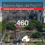 Promoção de Passagens para a <b>ARGENTINA: Buenos Aires</b>! A partir de R$ 460, ida e volta; a partir de R$ 958, ida e volta, COM TAXAS INCLUÍDAS!
