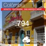 Promoção de Passagens para <b>Colômbia: Bogota, Cartagena, Medellin, San Andres, Santa Marta</b>! A partir de R$ 794, ida e volta; a partir de R$ 1.210, ida e volta, COM TAXAS INCLUÍDAS!