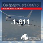 Promoção de Passagens para <b>GALÁPAGOS</b>! A partir de R$ 1.611, ida e volta; a partir de R$ 2.381, ida e volta, COM TAXAS INCLUÍDAS!