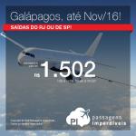 Promoção de Passagens para <b>GALÁPAGOS</b>! A partir de R$ 1.502, ida e volta; a partir de R$ 2.135, ida e volta, COM TAXAS INCLUÍDAS!