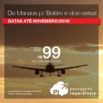 Promoção de Passagens <b>de Belém para Manaus</b> e de <b>Manaus para Belém</b>! A partir de R$ 99, ida e volta!