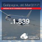 Seleção de Passagens para <b>GALÁPAGOS</b>! A partir de R$ 1.839, ida e volta; a partir de R$ 2.540, ida e volta, COM TAXAS INCLUÍDAS!