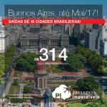 Promoção de Passagens para a <b>Argentina: Buenos Aires</b>! A partir de R$ 314, ida e volta; a partir de R$ 705, ida e volta, COM TAXAS INCLUÍDAS, em até 5x sem juros!
