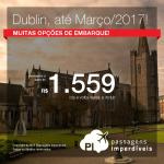 Promoção de Passagens para a <b>Irlanda: Dublin</b>! A partir de R$ 1.559, ida e volta; a partir de R$ 2.022, ida e volta, COM TAXAS INCLUÍDAS, em até 10x sem juros!
