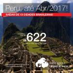 Promoção de Passagens para o <b>Peru: Cusco ou Lima</b>! A partir de R$ 622, ida e volta; a partir de R$ 967, ida e volta, COM TAXAS INCLUÍDAS, em até 10x sem juros!