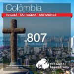 Promoção de Passagens para <b>Colômbia: Bogota, Cartagena, San Andres</b>! A partir de R$ 807, ida e volta; a partir de R$ 1.150, ida e volta, COM TAXAS INCLUÍDAS!