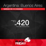Black Friday 2016 – Promoção de Passagens para <b>BUENOS AIRES</b>, a partir de R$ 420, ida e volta; a partir de R$ 826, ida e volta, COM TAXAS INCLUÍDAS, em até 12x sem juros!