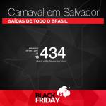Black Friday 2016 – Passagens para o <b>CARNAVAL DE SALVADOR</b>! A partir de R$ 434, ida e volta!