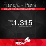Black Friday 2016 – Promoção de Passagens para a <b>França: PARIS</b>! A partir de R$ 1.315, ida e volta; a partir de R$ 1.763, ida e volta, COM TAXAS INCLUÍDAS, em até 12x sem juros! Datas até Setembro/2017!