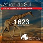Promoção de Passagens para a <b>África do Sul: Cape Town, Joanesburgo</b>! A partir de R$ 1.623, ida e volta; a partir de R$ 2.142, ida e volta, COM TAXAS INCLUÍDAS!