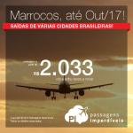 Promoção de Passagens para o <b>Marrocos: Casablanca, Marrakech e muito mais</b>! A partir de R$ 2.033, ida e volta; a partir de R$ 2.638, ida e volta, COM TAXAS INCLUÍDAS, em até 10x sem juros!