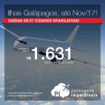 Promoção de Passagens para as <b>Ilhas Galápagos</b>! A partir de R$ 1.631, ida+volta; a partir de R$ 2.287, ida+volta, COM TAXAS INCLUÍDAS, em até 10x sem juros! Datas até Novembro/2017!