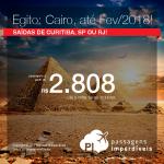 Promoção de Passagens para o <b>EGITO: Cairo</b>! A partir de R$ 2.808, ida e volta, COM TAXAS INCLUÍDAS, em até 5x sem juros! Datas até Fevereiro/2018!