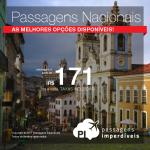 Super Feirão de <b>PASSAGENS NACIONAIS</b>: Passagens de ida e volta, a partir de R$ 171, COM TAXAS INCLUÍDAS!