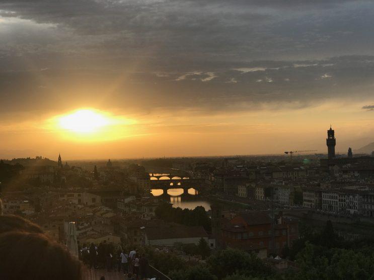 Por do sol na Piazzale Michelangelo, Florença, Firenze