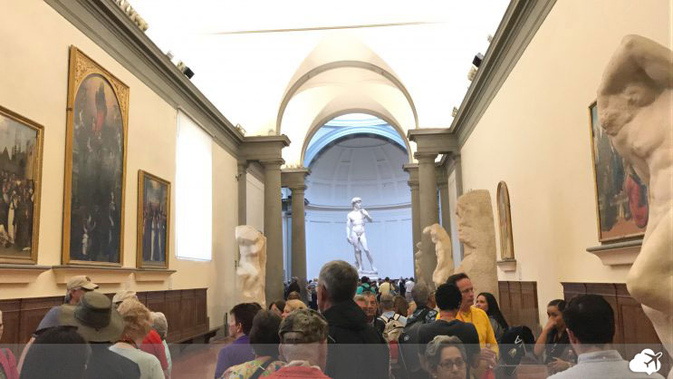 peça original de david, de michelangelo