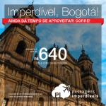 Ainda dá tempo! Passagens para a <b>Colômbia: Bogota</b>! A partir de R$ 640, ida e volta, COM TAXAS INCLUÍDAS, em até 6x sem juros!