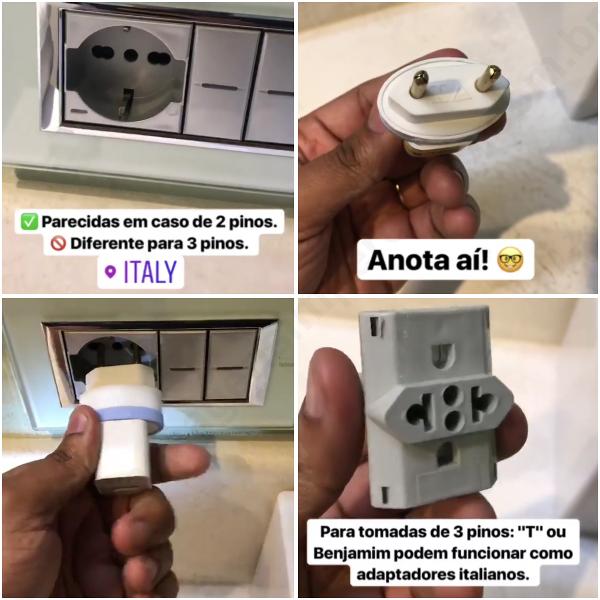Viagem para a Itália: funcionamento de tomadas e eletricidade