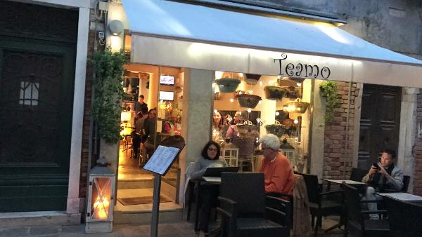 O que fazer em Veneza: onde comer: Wine Bar TEAMO