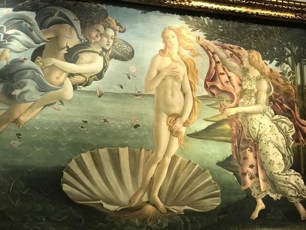 O nascimento de Vênus, Botticelli, Galleria Uffizi