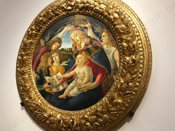 Nossa Senhora do Magnificat, Botticelli, Galleria Uffizi