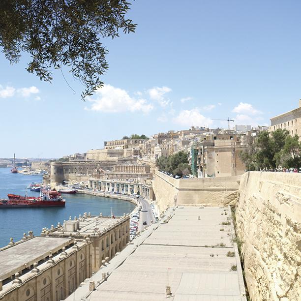 Ruas das ilhas de Malta