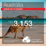 Promoção de Passagens para a <b>Austrália</b>: Adelaide, Brisbane, Gold Coast, Melbourne, Sydney! A partir de R$ 3.153, ida e volta, COM TAXAS! Voado pela Qantas!