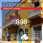 Promoção de Passagens para a <b>Colômbia: Bogota, Cartagena</b>! A partir de R$ 898, ida e volta, COM TAXAS!