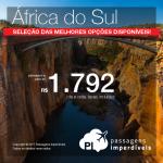 Promoção de Passagens para a <b>África do Sul: Cape Town, Joanesburgo</b>! A partir de R$ 1.792, ida e volta, COM TAXAS INCLUÍDAS!