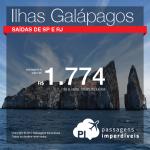 Promoção de Passagens para o <b>Equador: Galápagos</b>! A partir de R$ 1.774, ida e volta, COM TAXAS INCLUÍDAS!