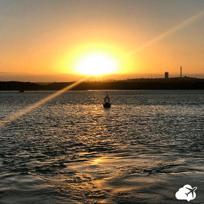 Pôr do sol do Rio Potengi em Natal