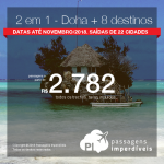 Promoção de <b>passagens 2 em 1 da Qatar</b>: Doha + Tanzânia, Quênia, Líbano, Rússia, Seychelles e outras! A partir de R$ 2.782, todos os trechos, COM TAXAS! Datas até Nov/2018!
