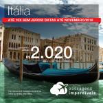 Promoção de Passagens para a <b>Itália: Milão, Roma, Veneza</b>! A partir de R$ 2.020, ida e volta, COM TAXAS INCLUÍDAS! Até 10x SEM JUROS! Datas para Novembro/2018. 11 origens!