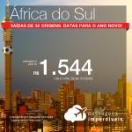 Promoção de Passagens para a <b>África do Sul: Cape Town ou Joanesburgo</b>! A partir de R$ 1.544, ida e volta, COM TAXAS INCLUÍDAS! Datas para o Ano Novo! Saídas de 32 origens.